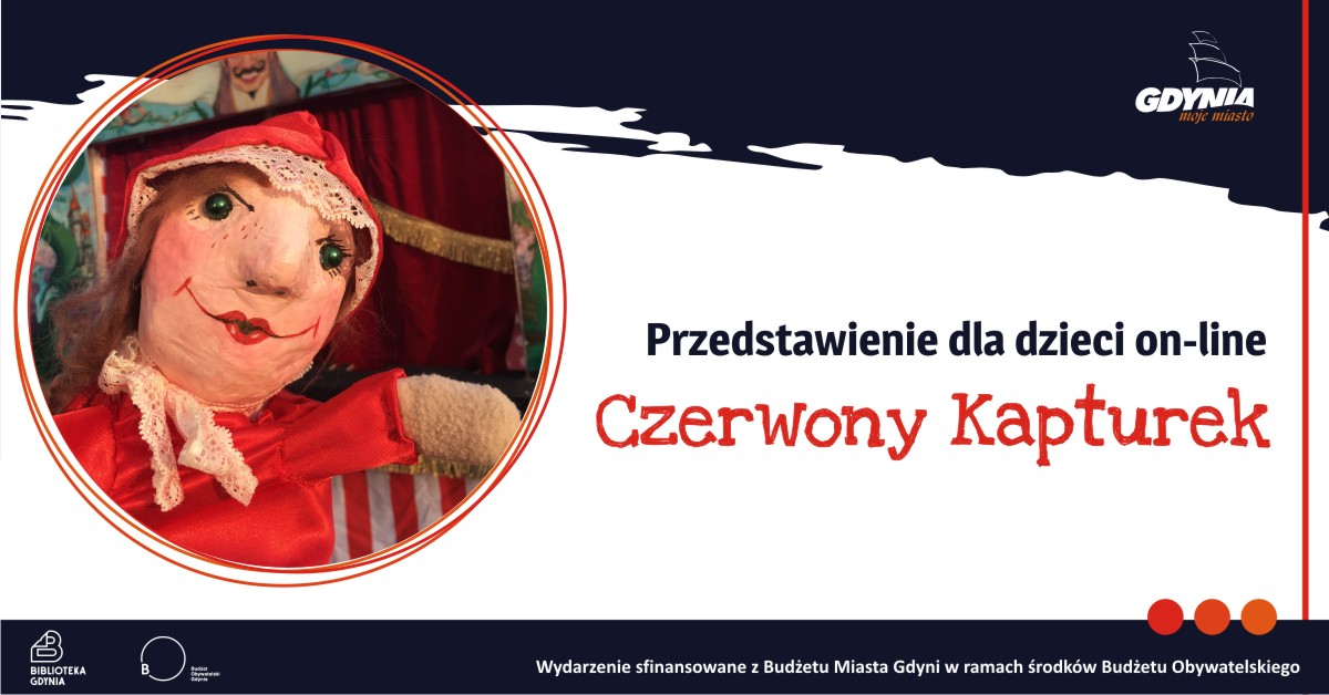 Czerwony Kapturek – przedstawienie dla dzieci, źródło: Biblioteka Gdynia