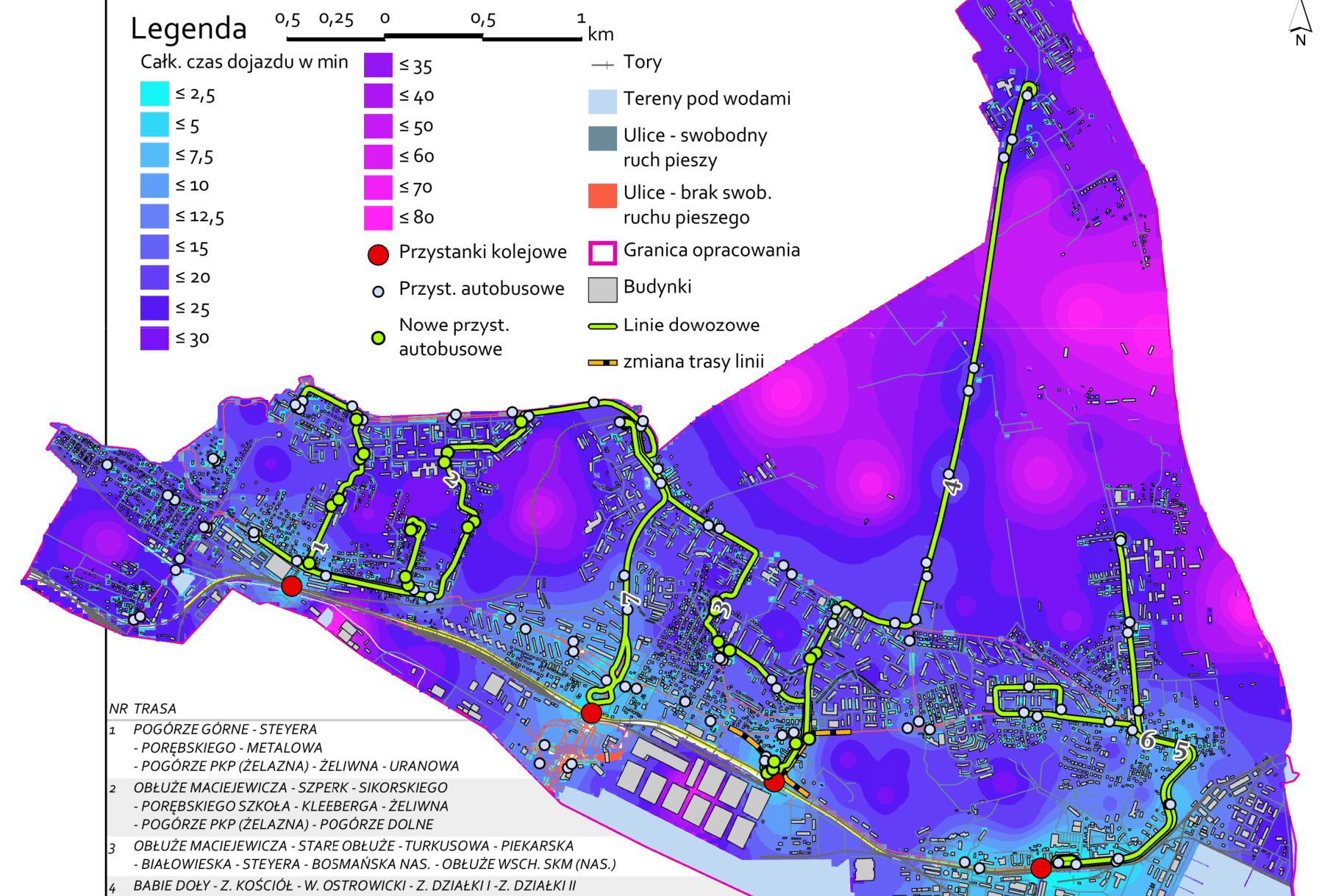 Jedna z map przygotowanych przez Rafała Borowskiego, laureata nagrody głównej // fot. materiały konkursowe