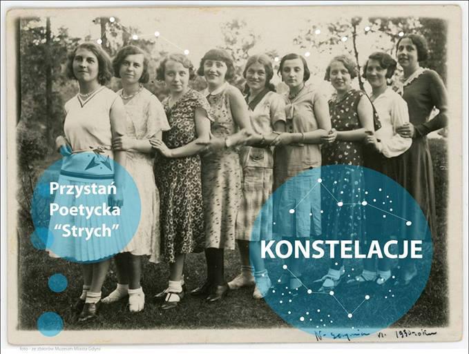 Fragment plakatu Konstelacje/proj. Magdalena Nowak