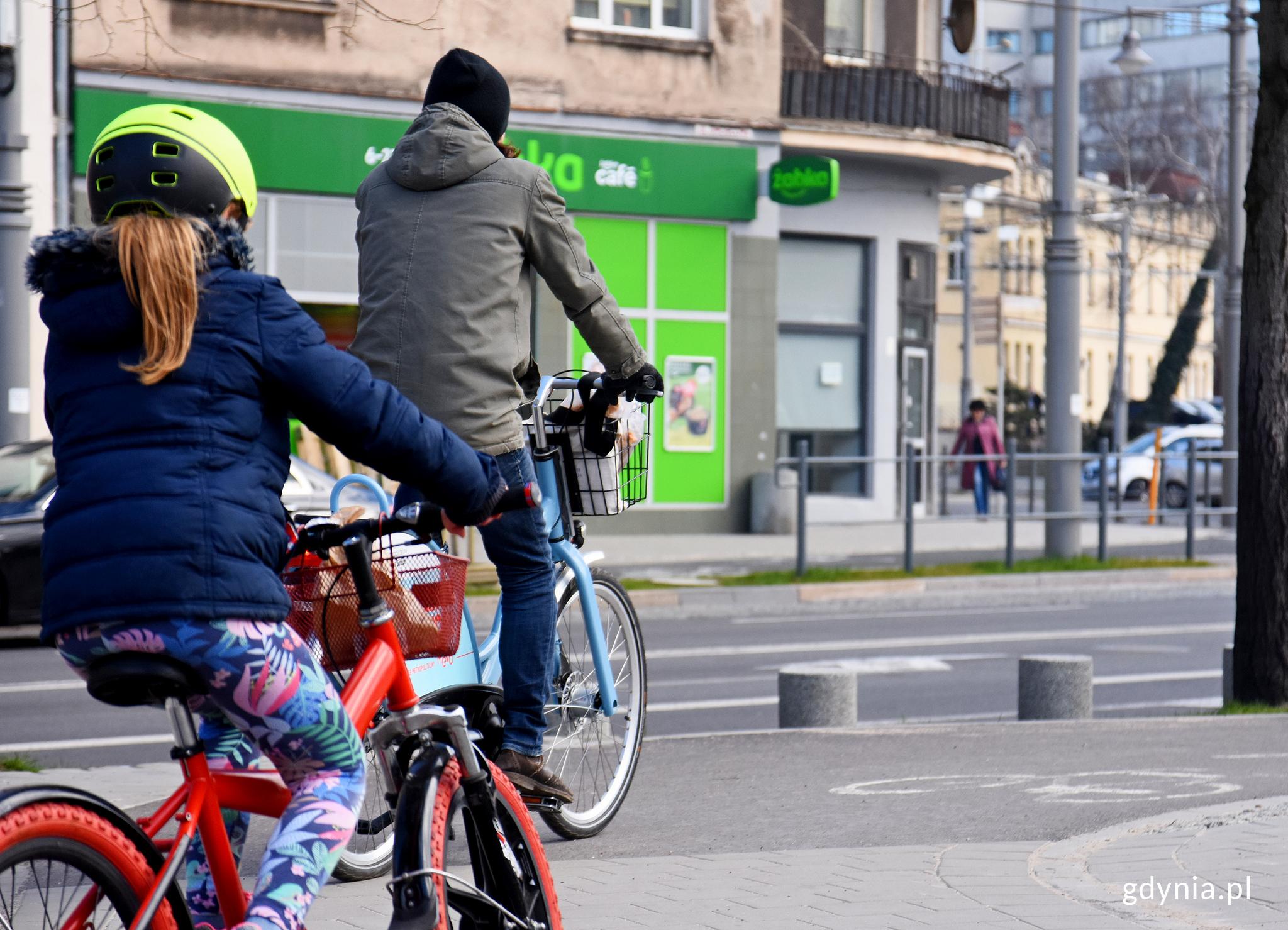 Gdynian na MEVO można zobaczyć na drogach rowerowych, fot. Kamil Złoch