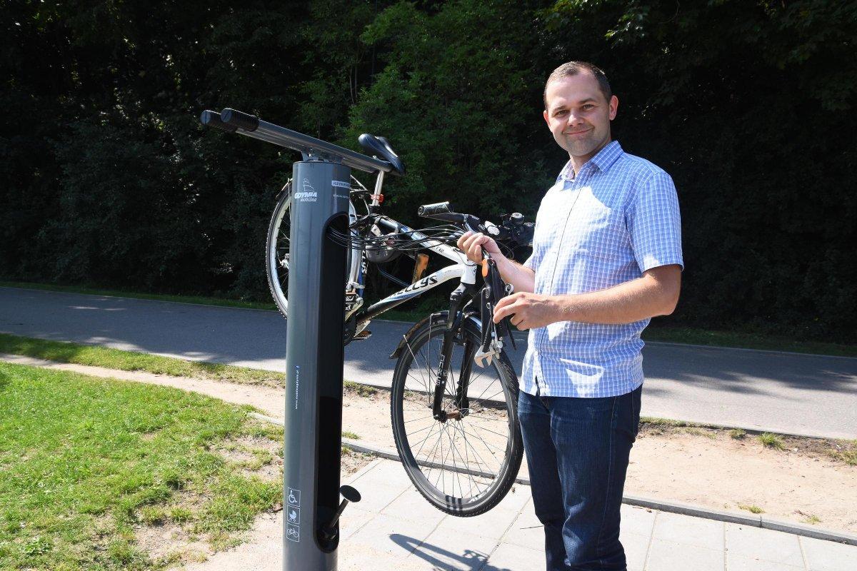 Stacje naprawy rowerów // fot. Lechosław Dzierżak