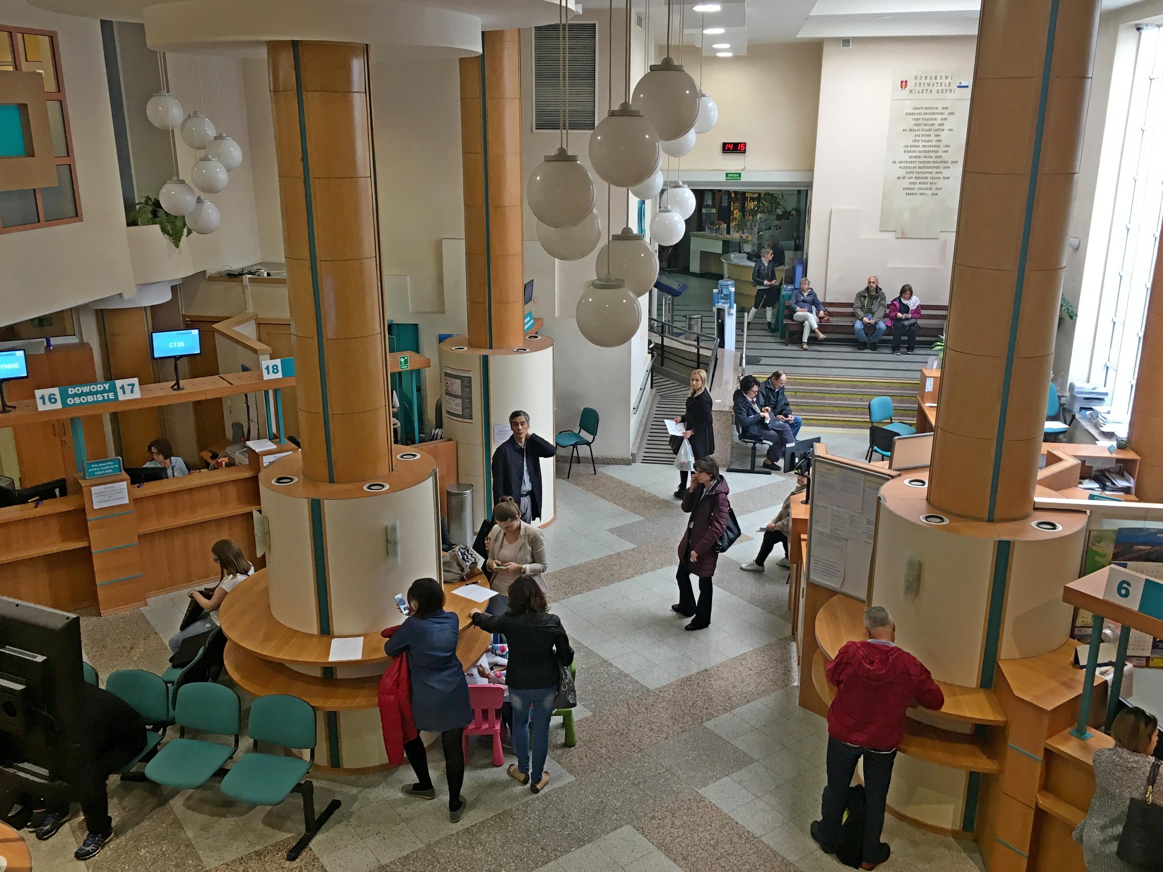 Sala Obsługi Mieszkańców w Urzędzie Miasta Gdyni