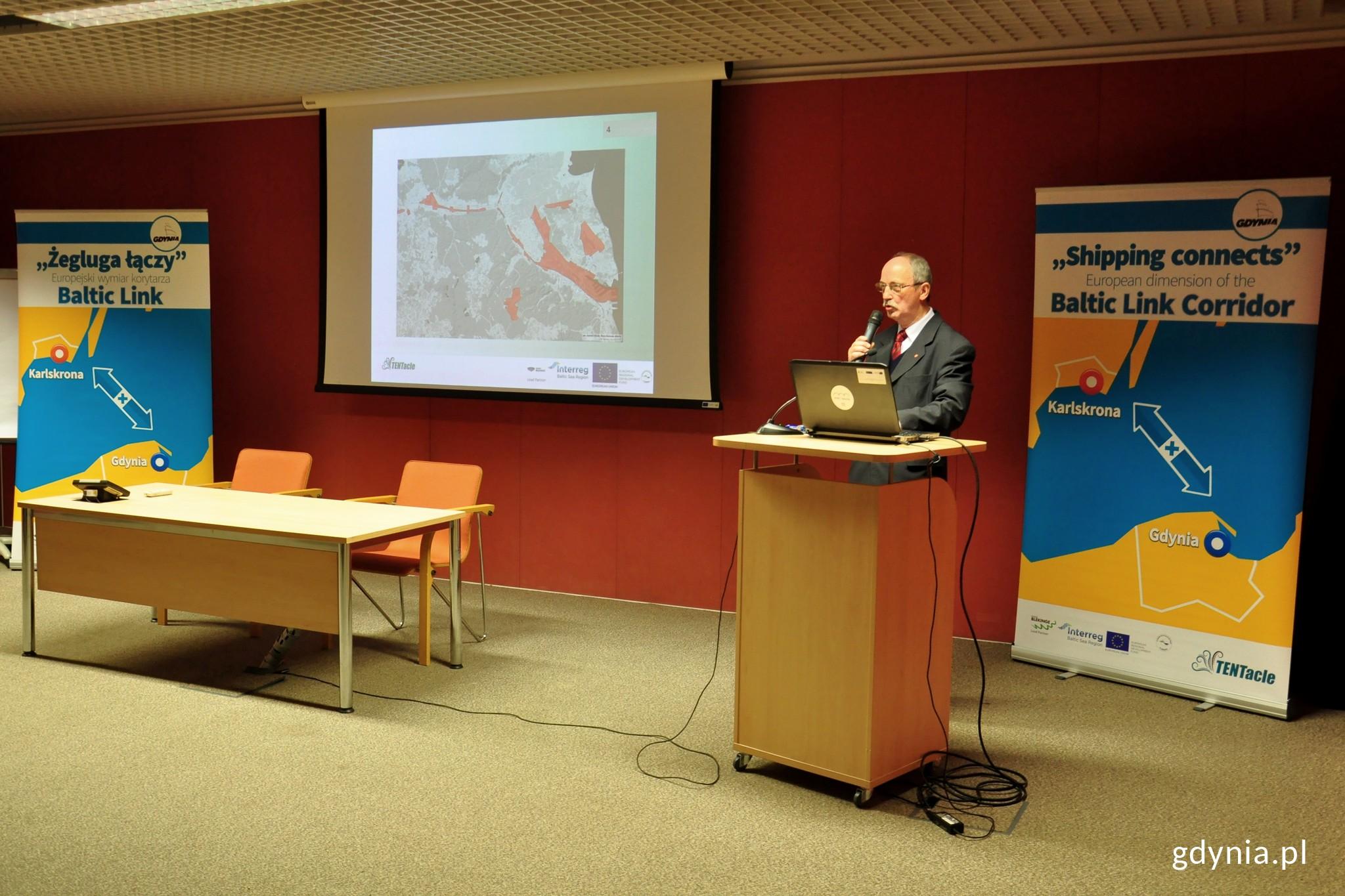 Projekt omówił i podsumował Ryszard Toczek, kierownik TENTacle w Gdyni /fot. Paweł Kukla