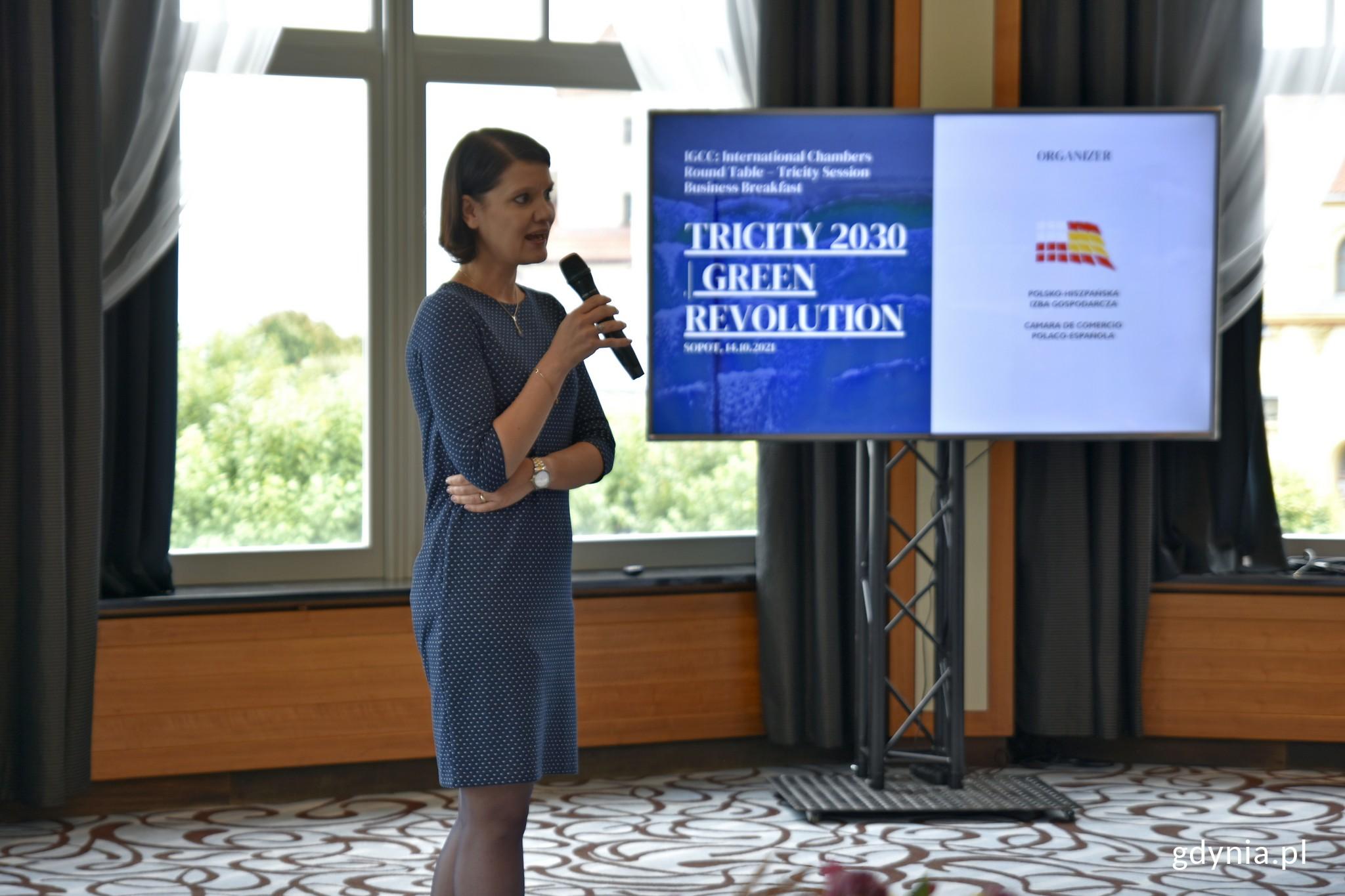 Katarzyna Gruszecka-Spychała, wiceprezydent Gdyni ds. gospodarki podczas spotkania w ramach IGCC // fot. Magdalena Czernek