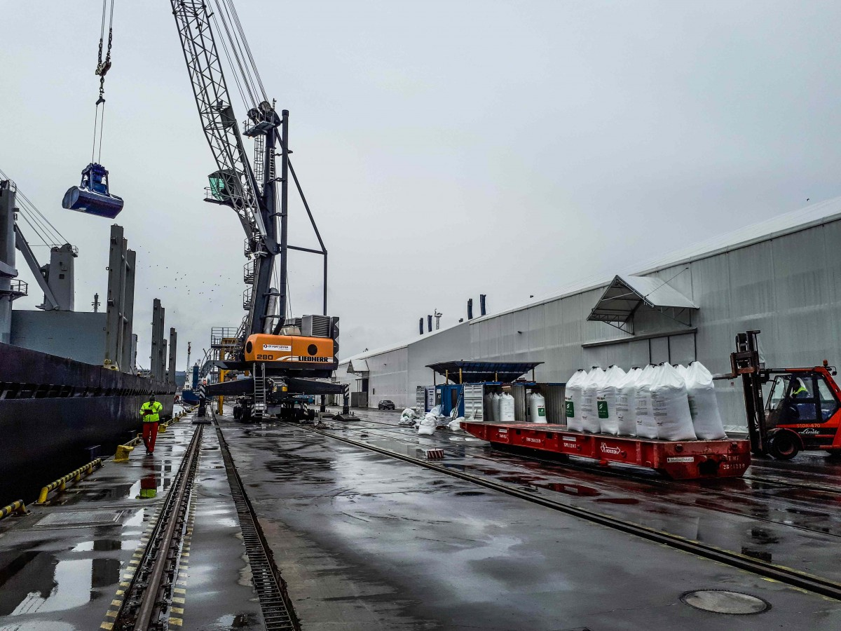 OT Port Gdynia obsługuje największy od lat masowiec. Fot. Mat. prasowe