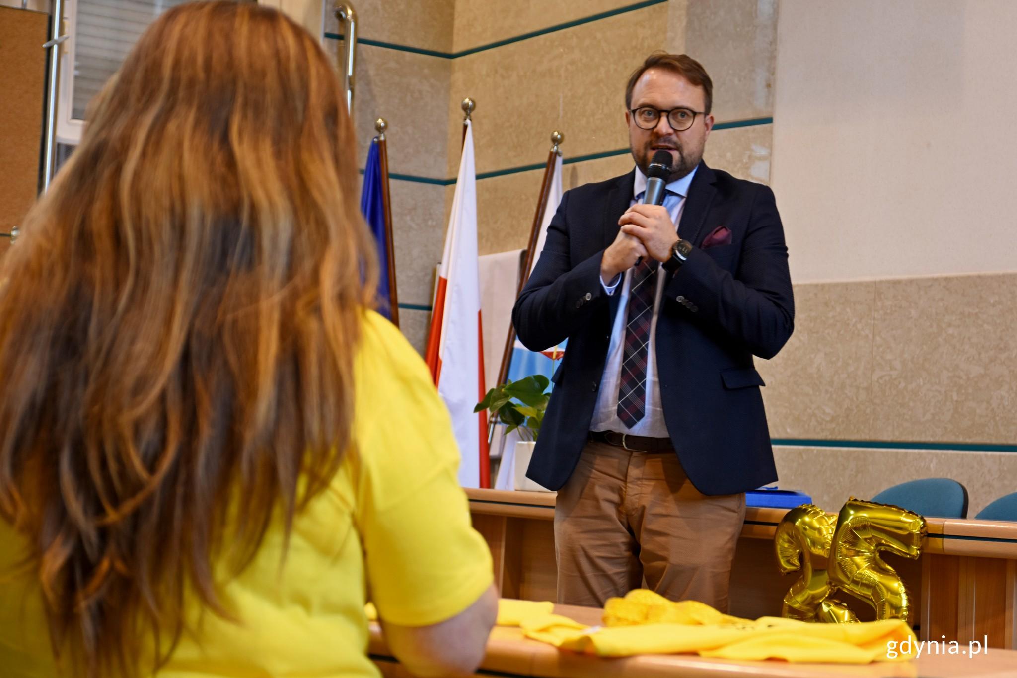 Na zdjęciu Marek Łucyk - wiceprezydent Gdyni