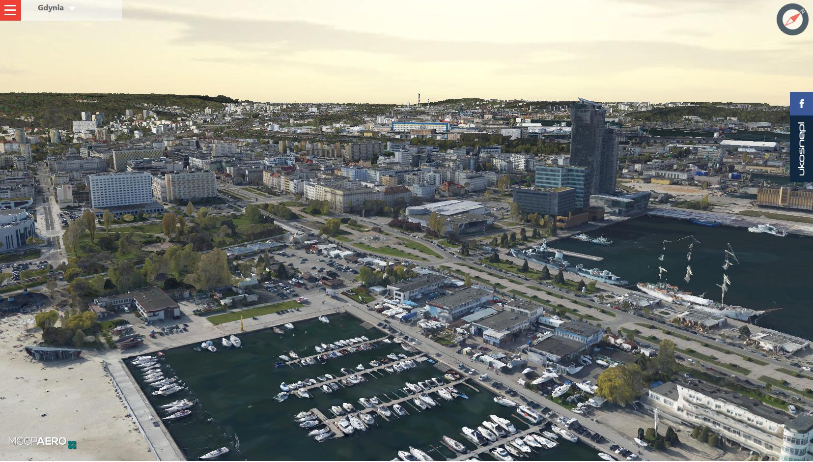 Mapa 3D Gdyni, źródło: www.gdynia.polska3d.pl