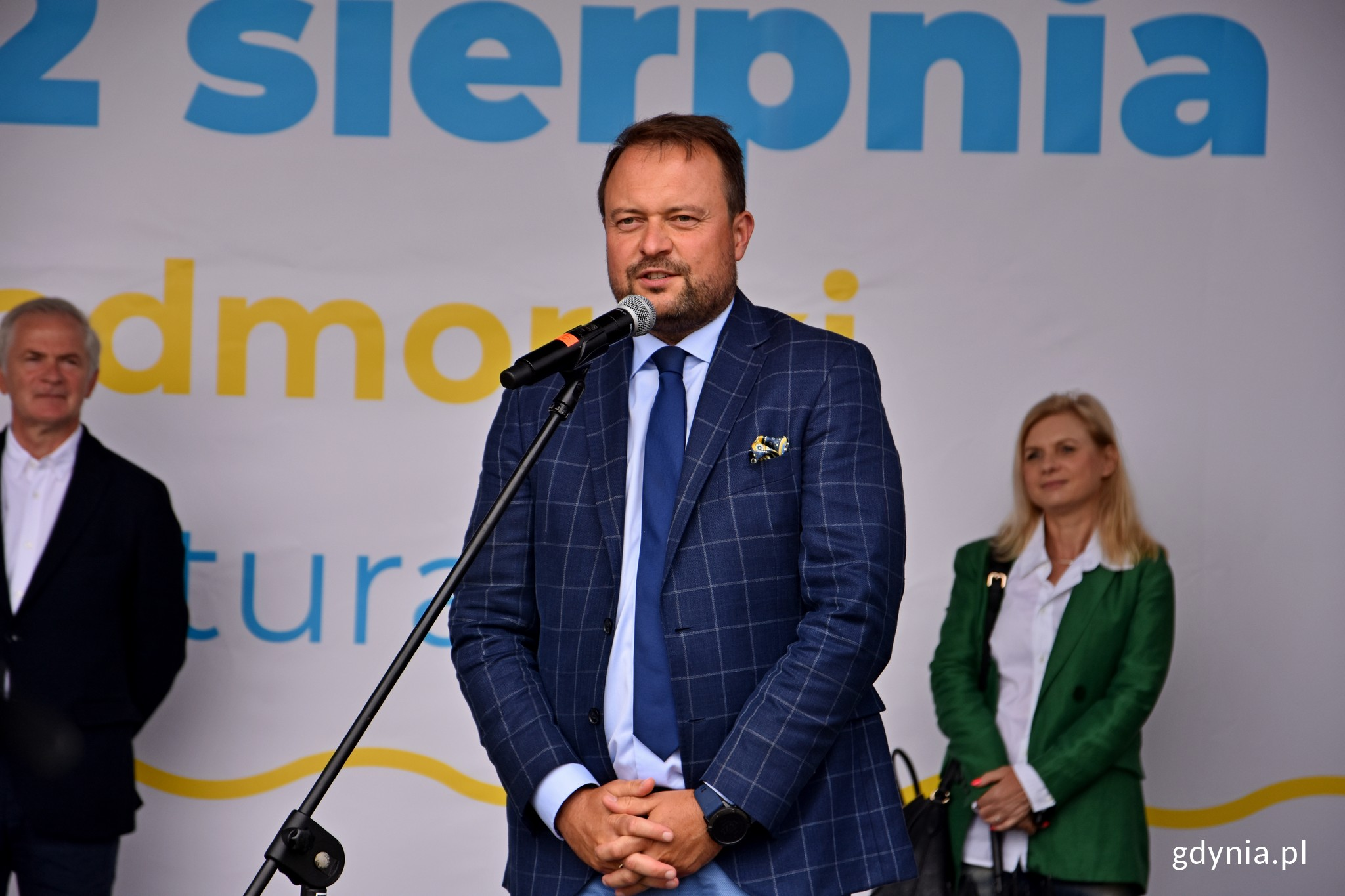 Plener Literacki w Gdyni 2020. N/z Prezydent Marek Łucek. Fot. Paweł Kukla