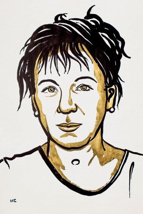 Olga Tokarczuk, Ilustracja: Niklas Elmehed. © Nobel Media