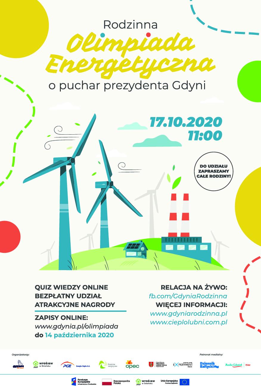 Plakat promujący Olimpiadę Energetyczną, która odbędzie się online 17 października 2020 roku // materiały prasowe
