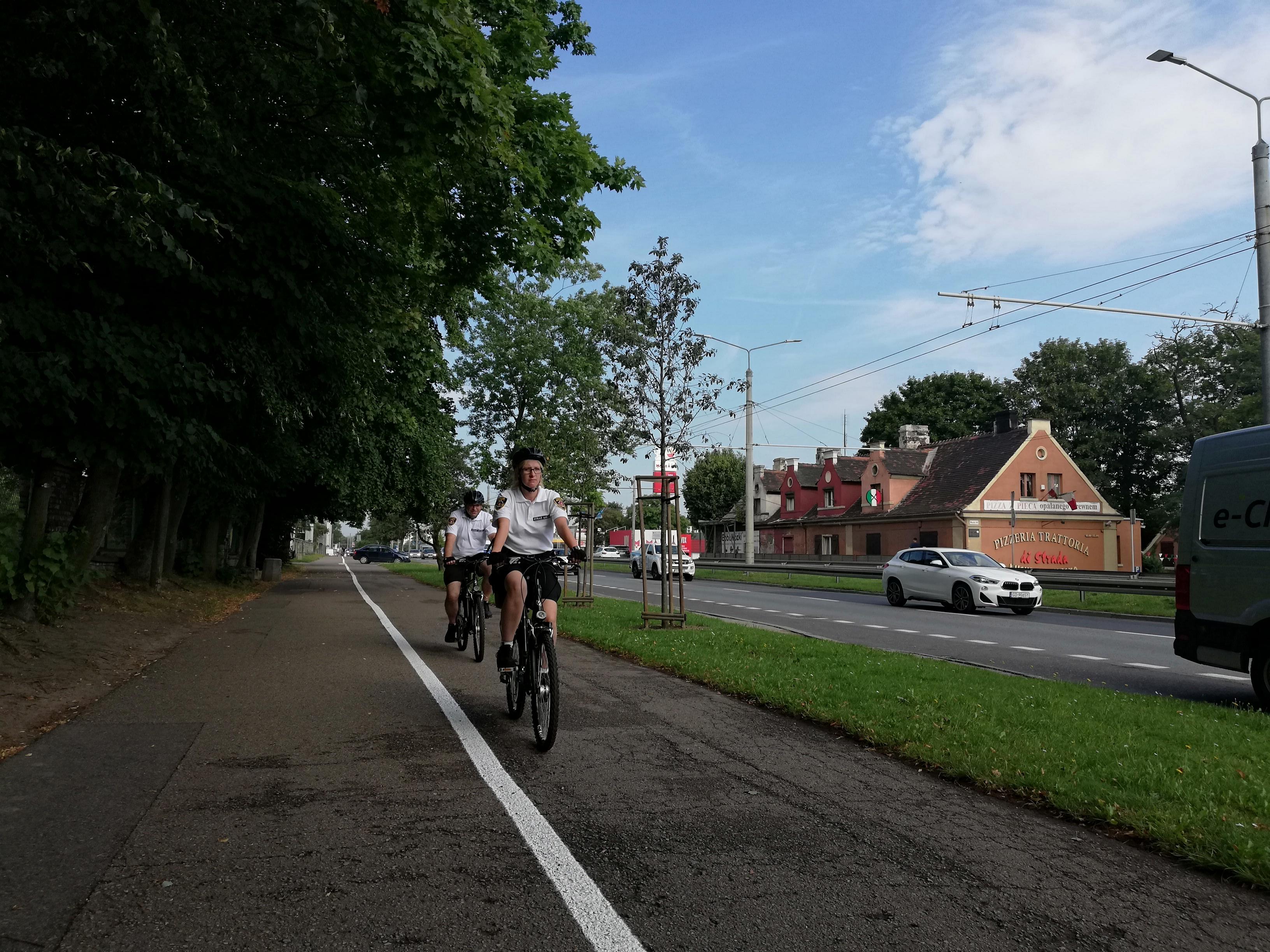 Gdyński patrol rowerowy // fot. Straż Miejska w Gdyni