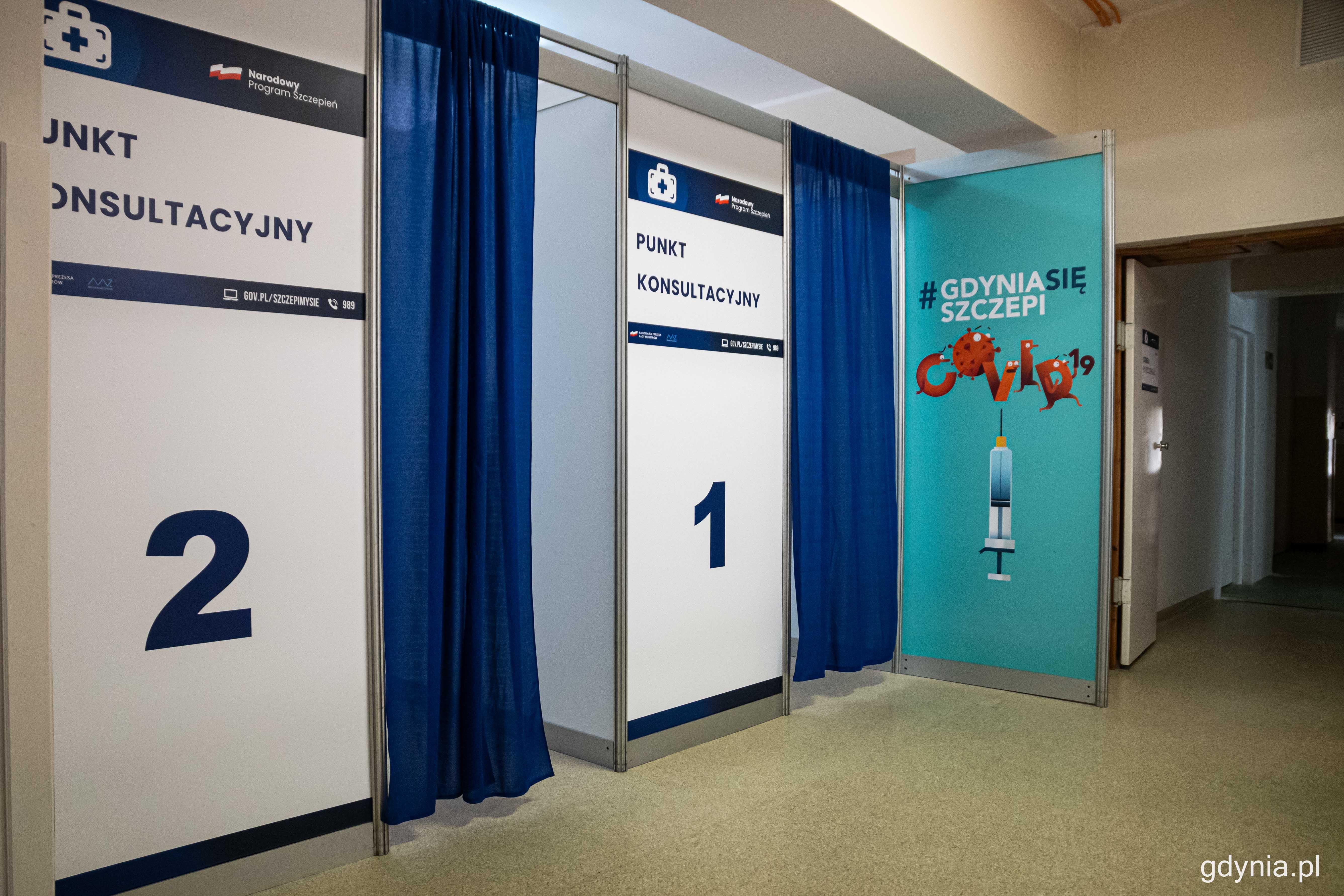 W ramach Powszechnego Punktu Szczepień w budynku UCMMiT funkcjonuje łącznie 6 stanowisk, fot. Kamil Złoch