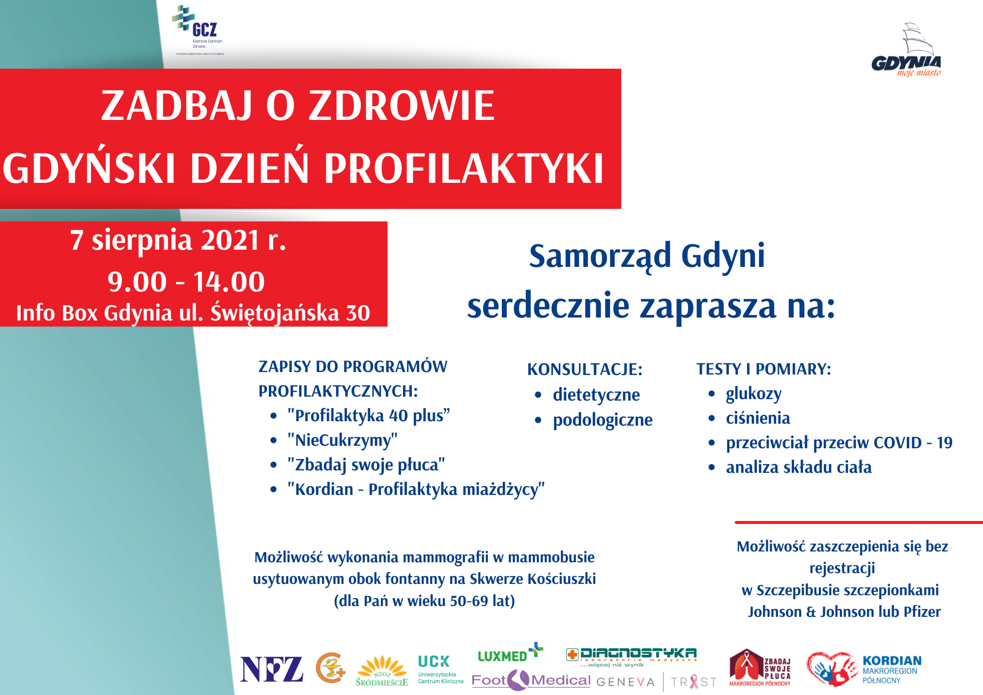 plakat Gdyński Dzień Profilaktyki na BIS