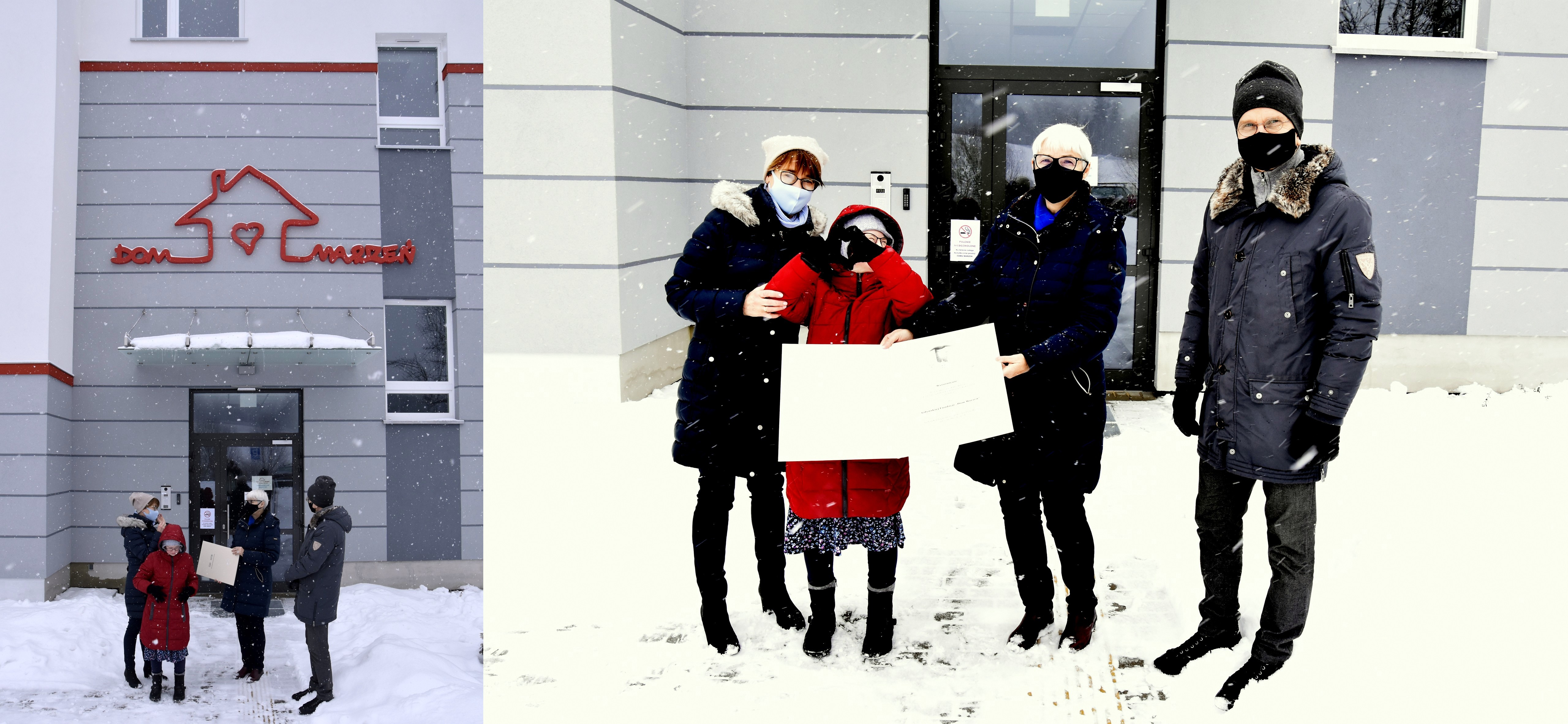 Nagrodę z rąk przewodniczącej Joanny Zielińskiej odebrali Katarzyna i Marek Karczewscy z córką Martą // fot. materiały Rady Miasta Gdyni