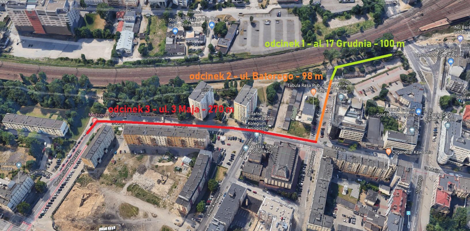 Tymi ulicami ma przebiegać nowa droga rowerowa w Śródmieściu // fot. ZDiZ