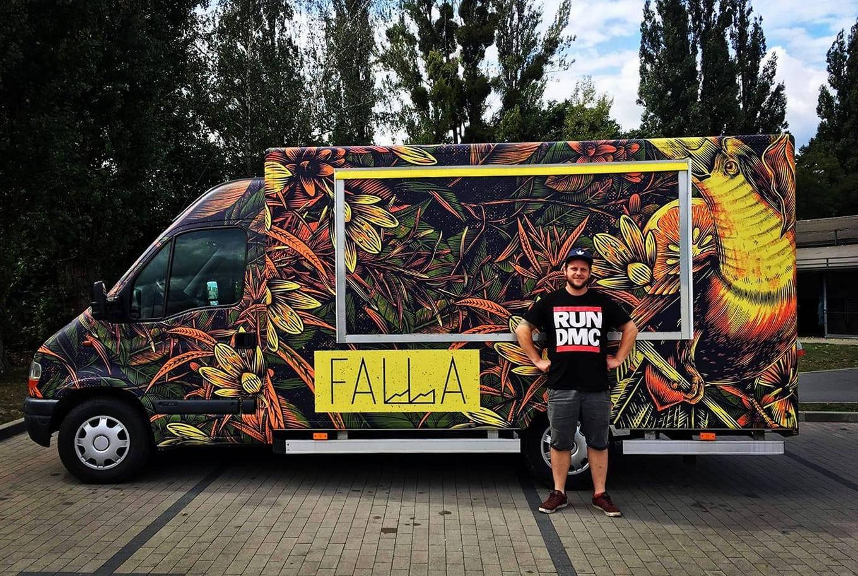 Food Truck restauracji Falla, który w sobotę będzie na miejscu, fot. facebook.com/FallaFoodTruck