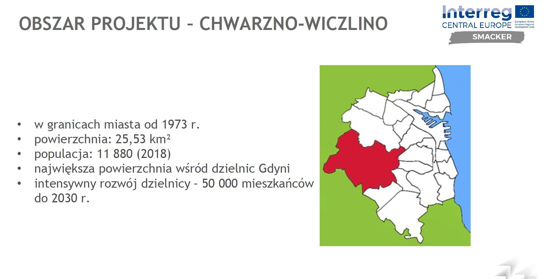 Obszarem pilotażowym projektu jest dzielnica Chwarzno-Wiczlino // fot. materiały Projektu SMACKER