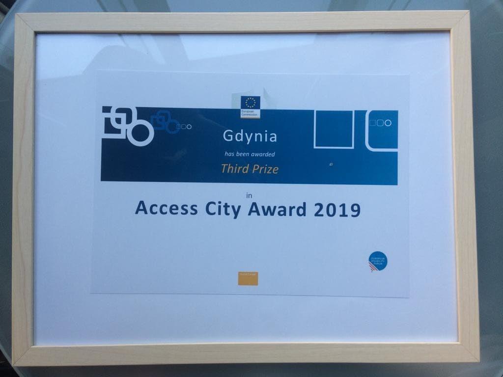 Trzecie miejsce w konkursie Access City Award dla Gdyni