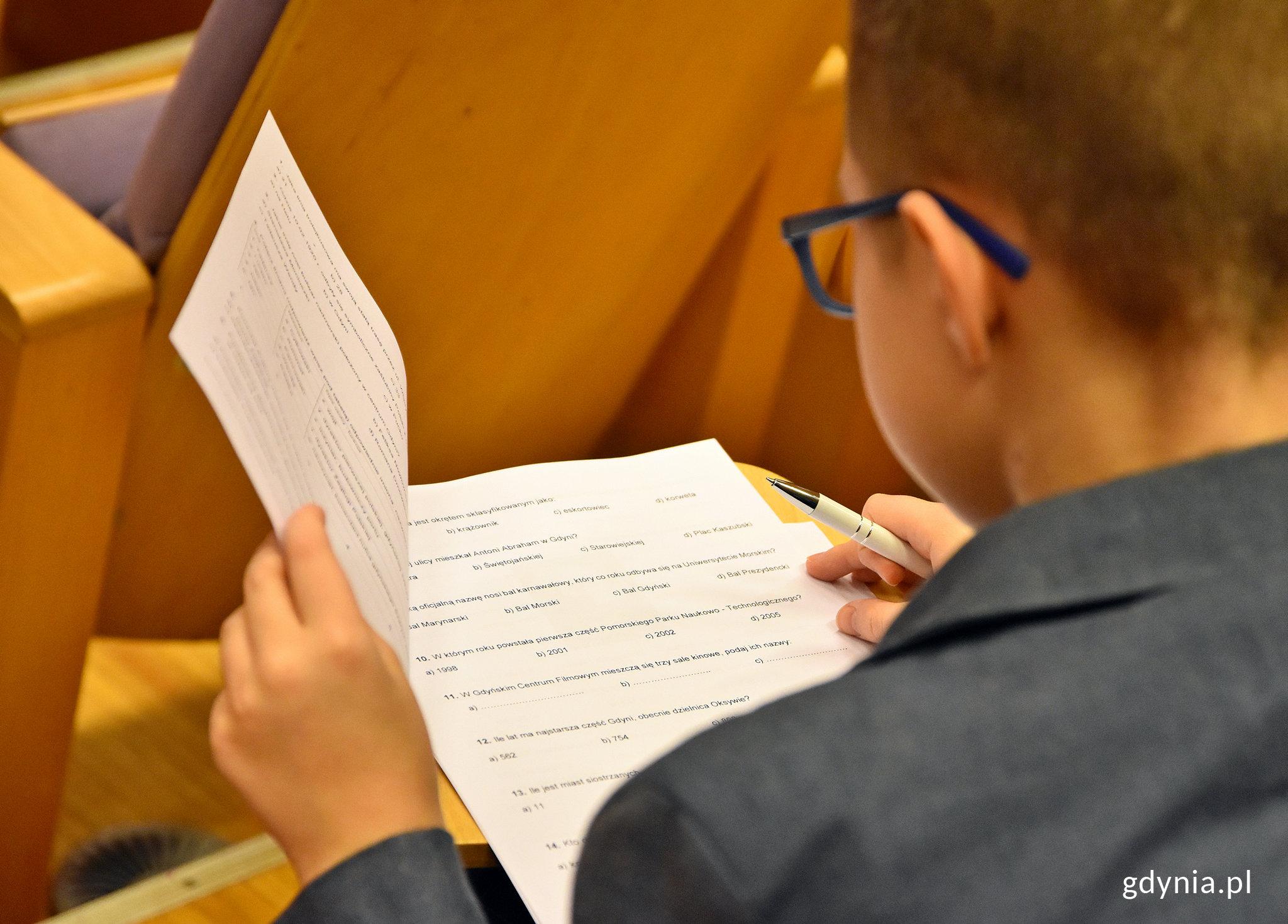 W półfinale konkursu rywalizowało około 140 uczniów gdyńskich szkół, fot. Kamil Złoch