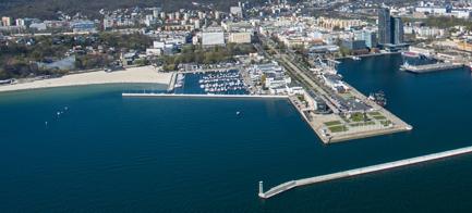 Widok Miasta Gdynia z lotu ptaka