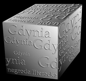 nagroda literacka Gdynia - statuetka (kostka)