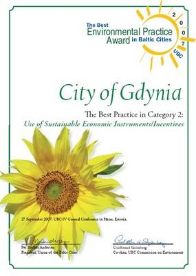 nagroda Użycie zrównoważonych instrumentów ekonomicznych w konkursie na Najlepszą Praktykę Środowiskową