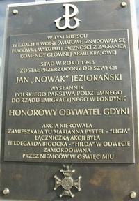 tablica Jana Nowaka Jeziorańskiego, fot.: Dorota Nelke