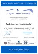 Krajowi Liderzy Innowacji - dyplom GCI