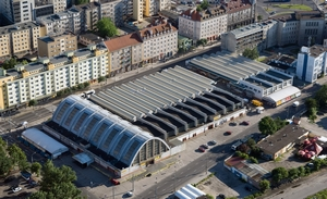 Bird's eye view of  the indoor market, photo by Kacper Kowalski (aeromedia.pl)