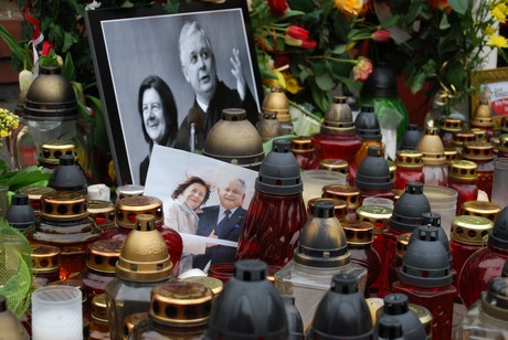 Gdynia w  żałobie - przed kościołem Najświętszej Marii Panny, fot.: Dorota Nelke
