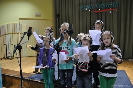 Nagranie mikołajkowej piosenki fot.: Dorota Nelke