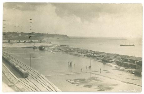 Tereny na których powstał port w Gdyni (obecnie zaplecze nabrzeża Duńskiego), 1925 r., fot. ze zbiorów Muzeum Miasta Gdyni