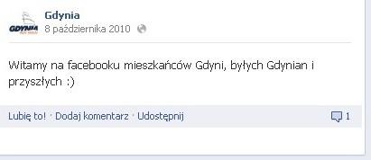 Ponad 20 000 osób polubiło gdyński fanpage na facebooku