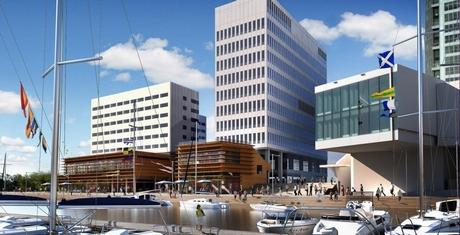 Projektowane budynki w ramach inwestycji Gdynia Waterfront