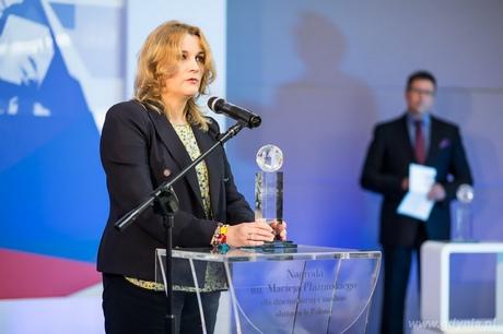 W kategorii Dziennikarz krajowy publikujący na tematy polonijne laureatką nagrody im. Macieja Płażyńskiego została Ewa Szkurłat-Adamska z Radia Kraków, fot. Dominik Jagodziński