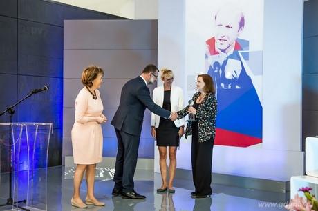 W kategorii Dziennikarz medium polonijnego nagrodę im. Macieja Płażyńskiego przyznano Dorocie Krzywickiej-Kaindel, fot. Dominik Jagodziński