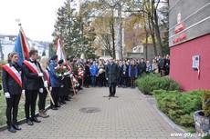 Prezydent Gdyni Wojciech Szczurek na uroczystości odsłonięcia tablicy upamiętniającej działania antykomunistyczne młodzieżowych organizacji, fot. Dorota Nelke