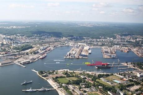 Planowana lokalizacja Obrotnicy nr 2 - fot. Zarząd Morskiego Portu Gdynia S.A.