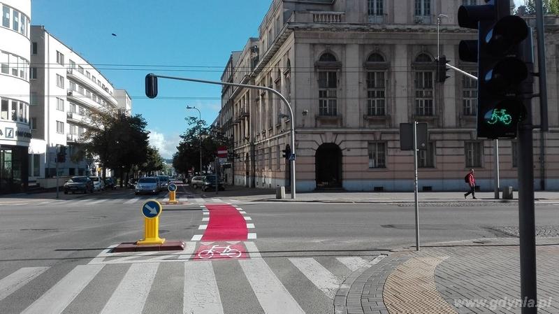 Nowe oznakowanie na przeje�dzie rowerowym / fot. Zarz�d Dr�g i Zieleni