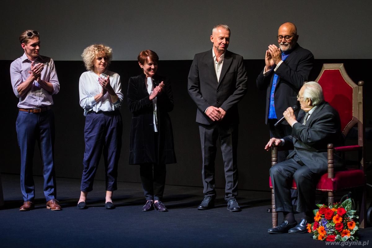 90-te urodziny Andrzeja Wajdy na 41. Festiwalu Filmowym w Gdyni, fot. Karol Sta�czak