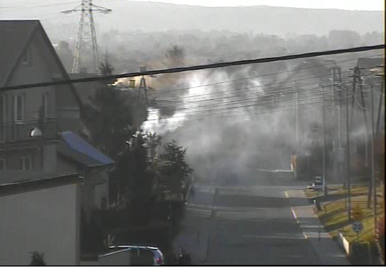 Trujący dym na ulicy Czernickiego, fot. Straż Miejska