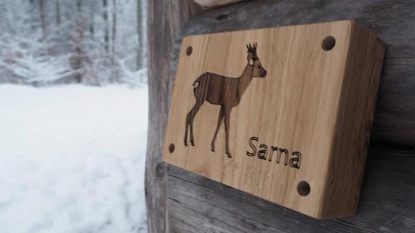 Dźwiękowe tabliczka z sarną, fot. pl-pl.facebook.com/Marszewo