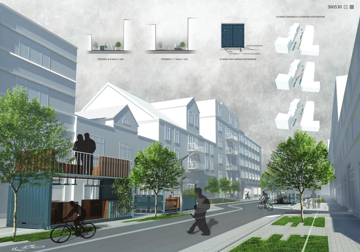 Jedna z koncepcji nowego wyglądu fragmentu ulicy Abrahama / materiały prasowe