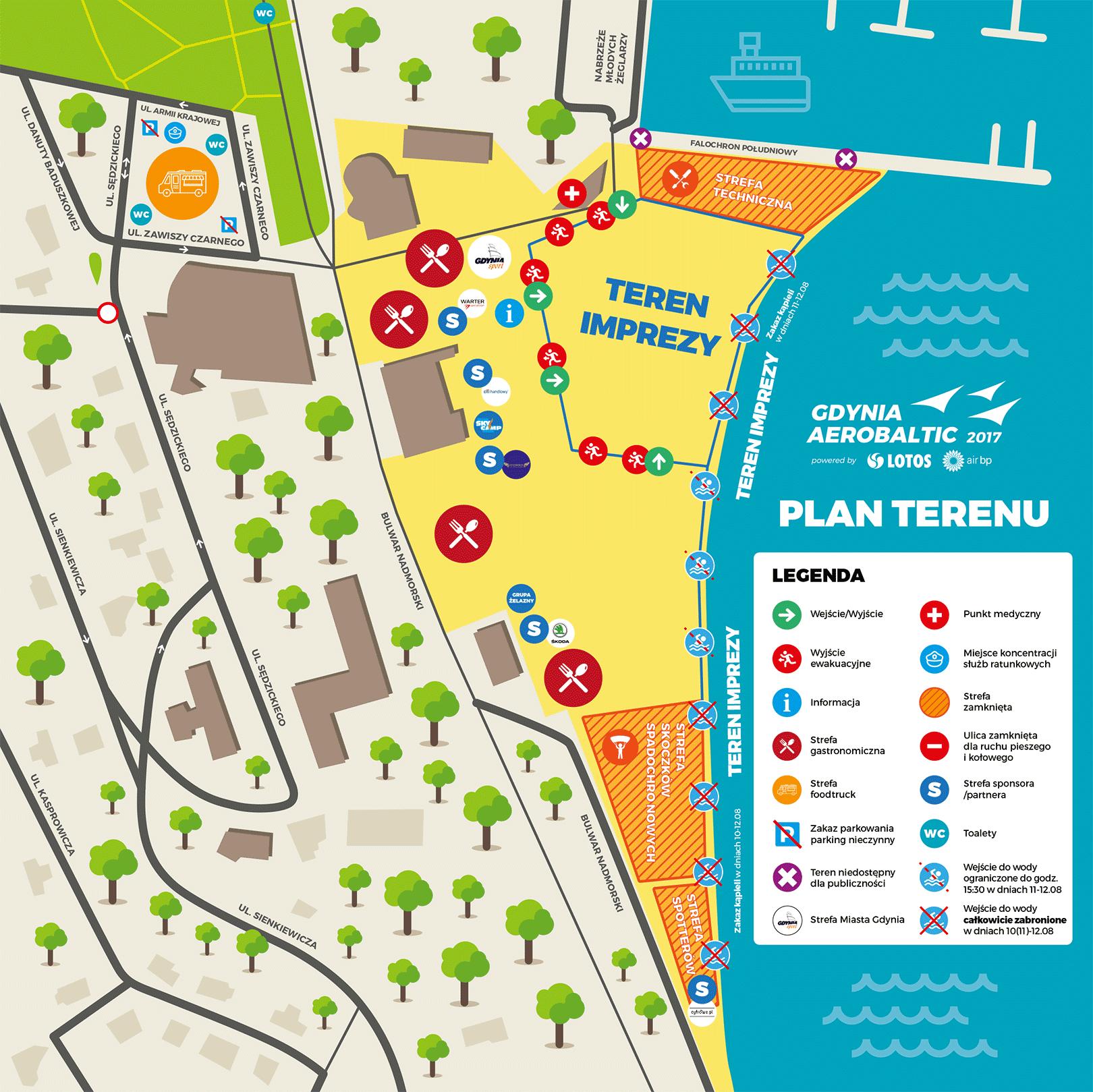 Mapa Gdynia AeroBaltic 2017