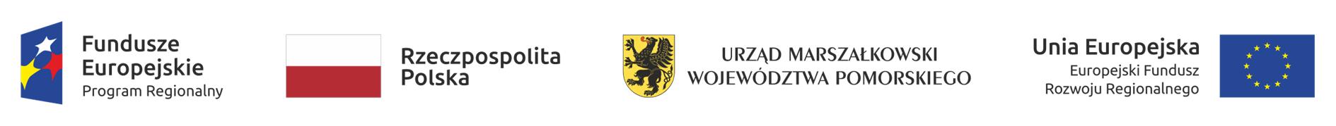znaki promocyjne : Fundusze Europejskie, Rzeczpospolita Polska, Urząd Marszałkowski Województwa Pomorskiego, Unia Europejska