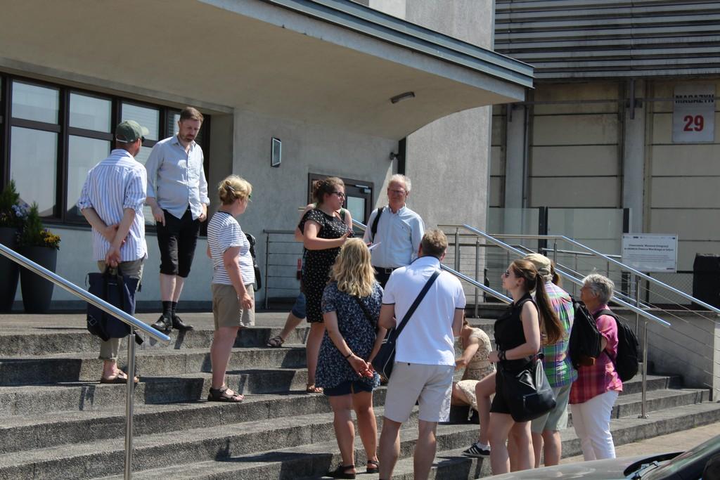 Wizyta przedstawicieli Wojewódzkie Urzędu Ochrony Zabytków z Bergen / fot. Celina Łozowska