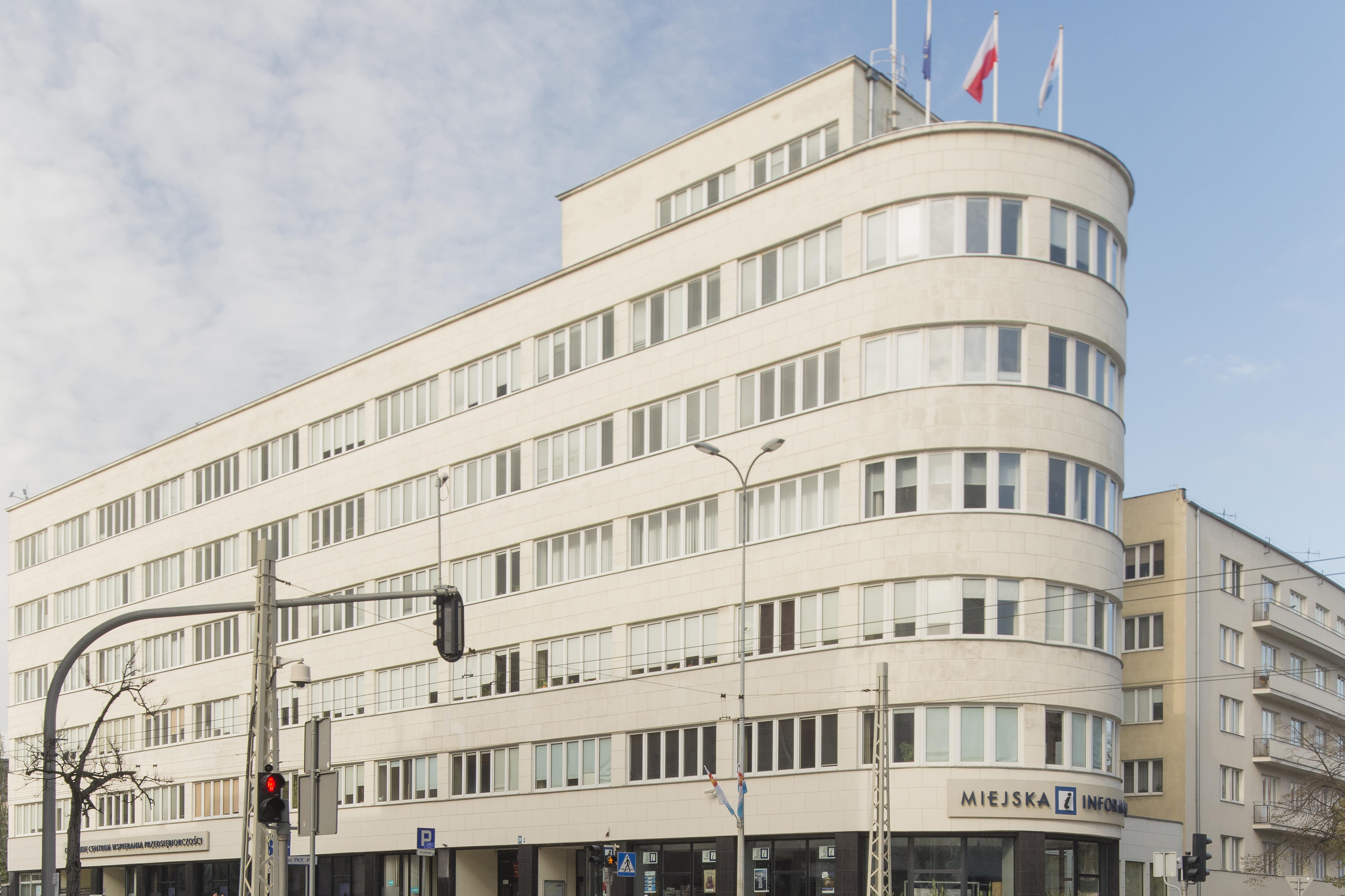 Budynek ZUS z 1935 r.  później PLO, ob. Urząd Miasta Gdyni, ul. 10 Lutego 24, wpis z dn. 05.07.1972 r. nr 618 (492)