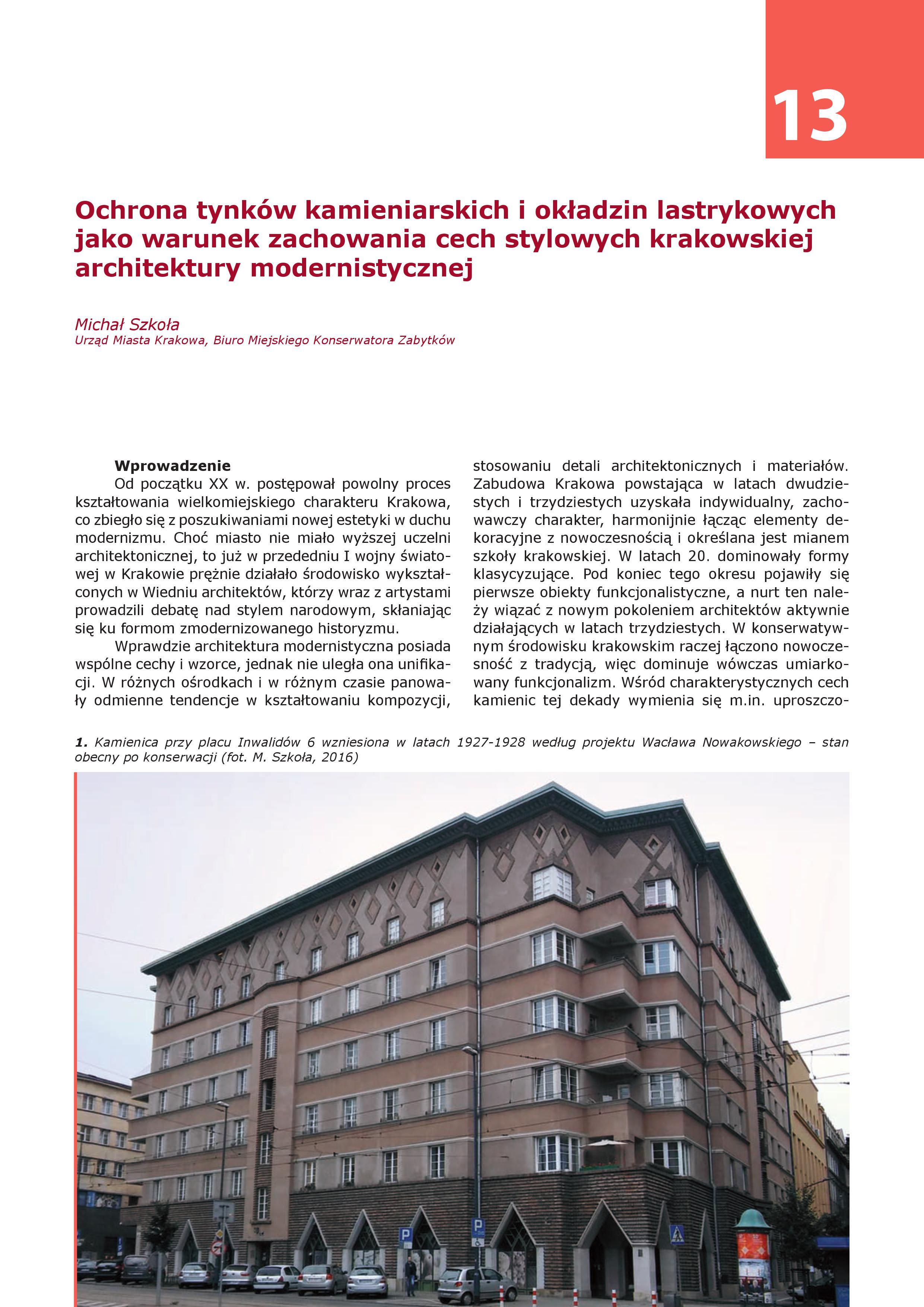 strona publikacji, fragment artykułu Michała Szkoły